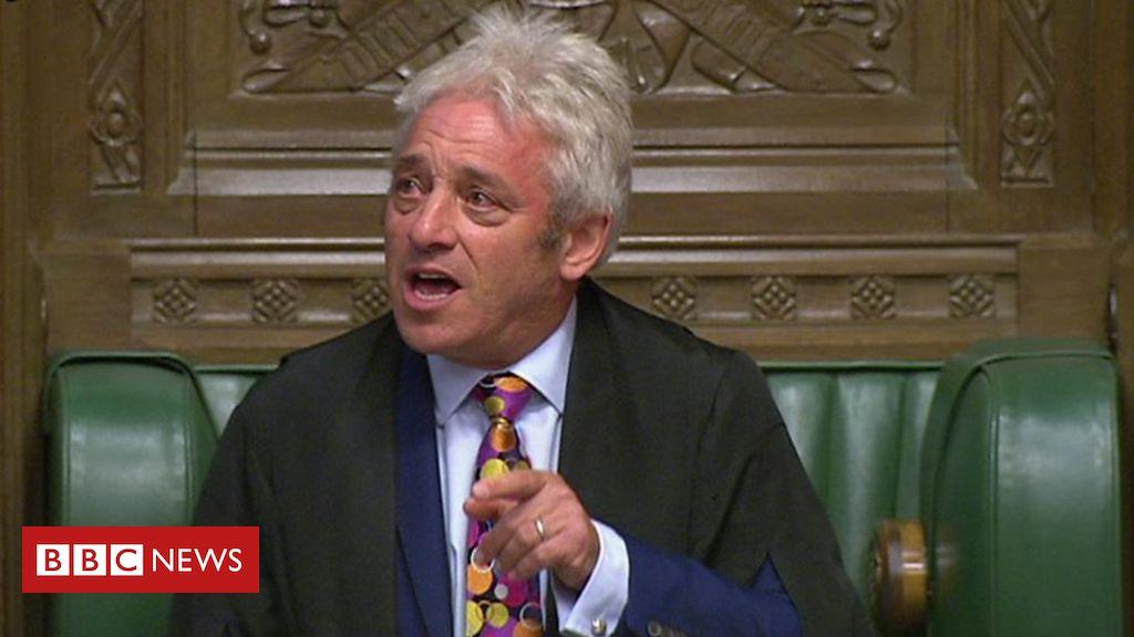 John Bercow's resignation speech as speaker of the House of Commons